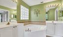 Master bath with jetted tub, dual sinks