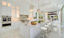 Virtually Staged Gourmet Kitchen