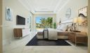 Virtually Staged Master Bedroom