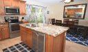 Stainless Steel Appliances- beautiful New Tile Floors