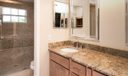 """Newly Renovated Master Bath with Elegantly tiled 5"""" Shower with Bench"""