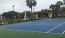 Tennis court lighted