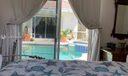 Delightful pool view from detached studio villa