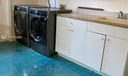 New washer and dryer in garage