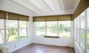 Florida Room - new windows on three sides, beamed ceiling