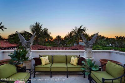 Upper terrace sunset views