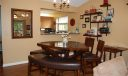 Conveniently open to the kitchen, the dining area can be reconfigured to suit your needs.