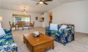 Light and Bright Living and Dining Rooms with brand new carpeting, freshly painted walls & ceiling fan with remote.