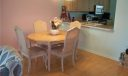Dining area with pass through from kitchen