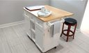 Kitchen Island (moveable) Room for kitchenette table & chairs. Brand New flooring