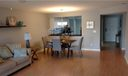 View of Living Room & Dining Area - note: laminate flooring