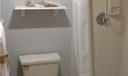 Master bath toilet room & shower area