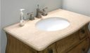 New Furniture Style Vanity in Second Bathroom with Marble top.