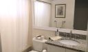 Your updated guest bathroom offers a shower over the tub, new toilet, new LED light fixture, plumbing fixtures, electrical outlets, granite and soft-close cabinetry.