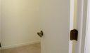 Walk-in closet in master bedroom area