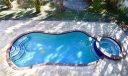 Beautiful custom pool with raised spa.