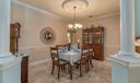 Dining Room located off the kitchen for ease of serving and entertaining family and guests