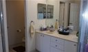Master bathroom touts a separate water closet, dual sinks, a soaking tub, and separate shower.