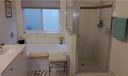 Master bathroom touts a separate water closet, dual sinks, soaking tub, and separate shower.