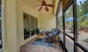 Screened patio with access to large outside patio area.