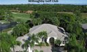 Aerial View. 18th Fairway CBS 3 Bedroom 3 Bath 3 Car Garage with Pool.  Perfect location just a short walk to clubhouse!