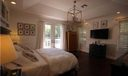 Master Bedroom. Bright master with private deck